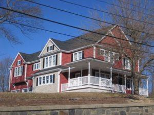 rebuilt home after damage
